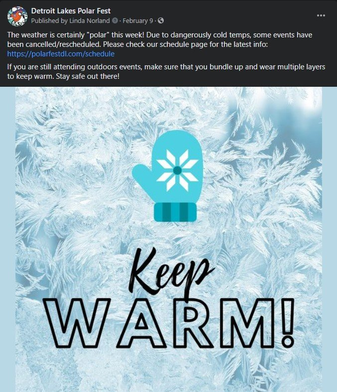 polar fest facebook post